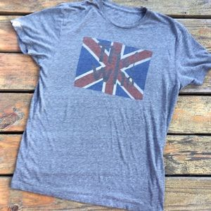 THE WHO Union Jack 🇬🇧 Grey Graphic Tee, Size XL